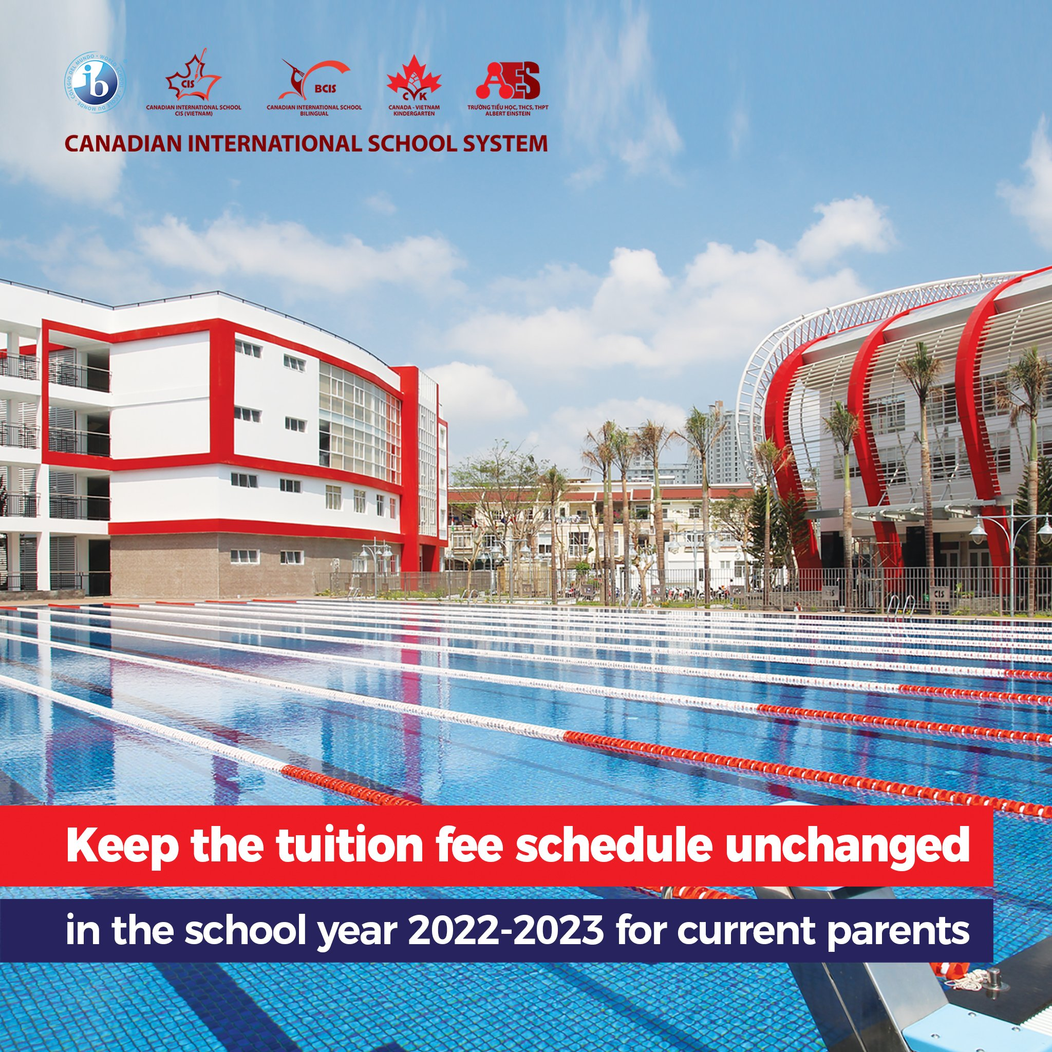 Keep the tuition fees unchanged in the school year 2022-2023 for current parents